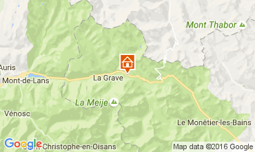 Map La Grave - La Meije House 4763