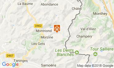 Map Morzine Chalet 114335