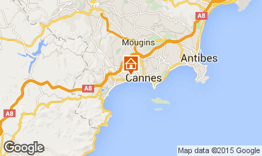 Map Cannes Apartment 73628
