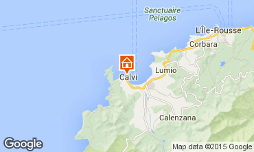 Map Calvi One-room apartment 7990