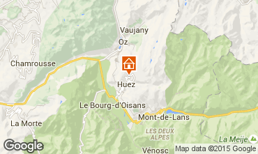 Map Alpe d'Huez One-room apartment 58480