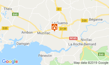 Map Muzillac Vacation rental 83495