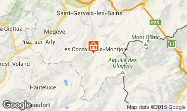 Map Les Contamines Montjoie One-room apartment 50448