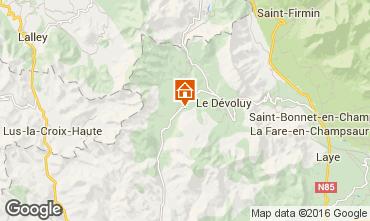 Map La joue du Loup Chalet 69489