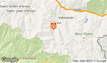 Map Valloire Apartment 50290