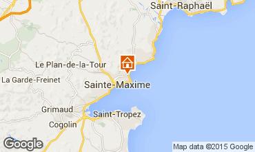 Map Sainte Maxime Apartment 54692