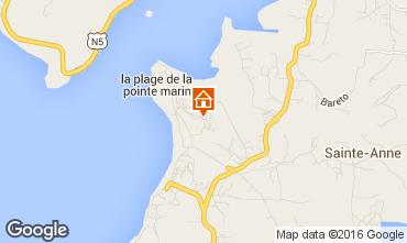 Map Sainte Anne (Martinique) One-room apartment 30963