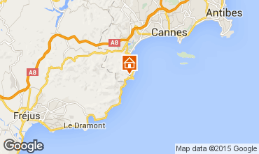 Map Théoule sur Mer Apartment 10412