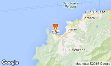 Map Calvi One-room apartment 90426