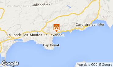 Map Le Lavandou Apartment 48959