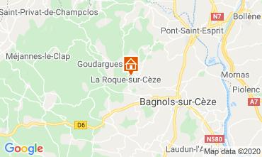 Map Uzès Vacation rental 69702
