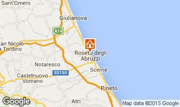 Map Roseto degli Abruzzi Apartment 63806