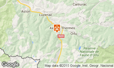 Map Ax Les Thermes One-room apartment 3911