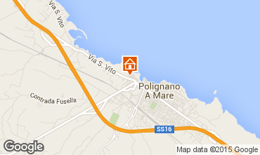 Map Polignano a Mare One-room apartment 36262