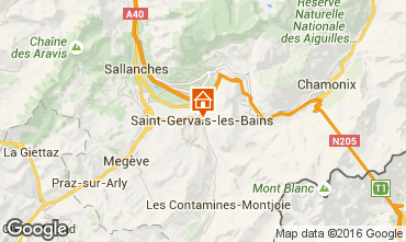 Map Saint Gervais Mont-Blanc One-room apartment 103150