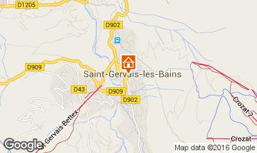 Map Saint Gervais Mont-Blanc One-room apartment 103150