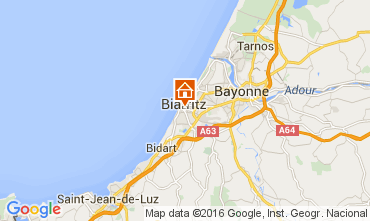Map Biarritz One-room apartment 105462