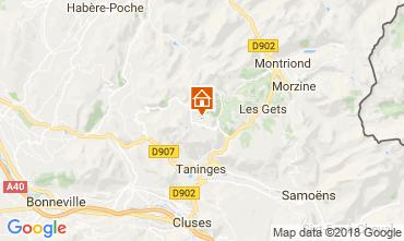 Map Praz de Lys Sommand One-room apartment 115890