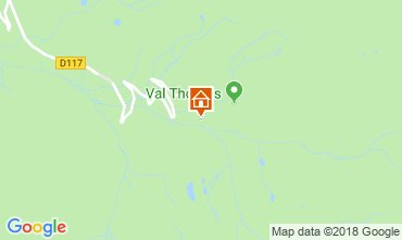 Map Val Thorens Apartment 117442