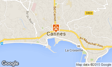 Map Cannes Apartment 94822