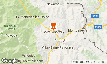 Map Serre Chevalier One-room apartment 91241