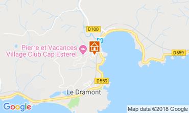Map Saint Raphael Apartment 107381