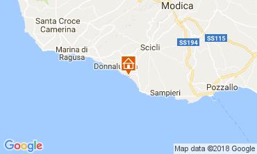 Map Donnalucata Villa 112801