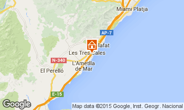 Map La Ametlla de Mar Chalet 77819