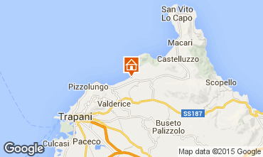 Map Trapani Apartment 95632