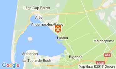 Map Andernos les Bains Vacation rental 103208