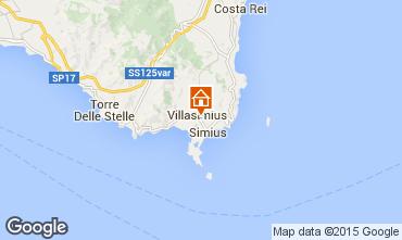 Map Villasimius Apartment 72288