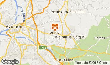 Map Avignon Vacation rental 79746