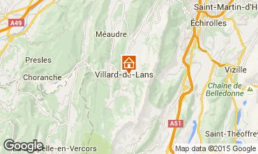 Map Villard de Lans - Corrençon en Vercors Apartment 101393