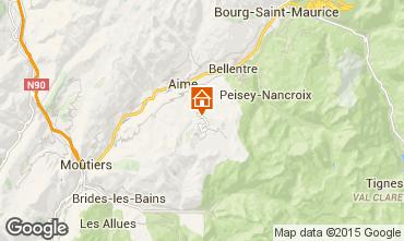 Map La Plagne Chalet 2154