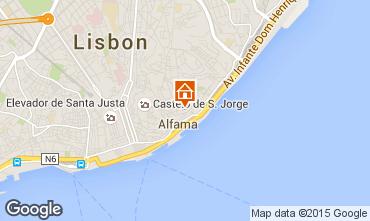Map Lisbon One-room apartment 23997