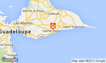 Map Sainte Anne (Guadeloupe) Vacation rental 54345