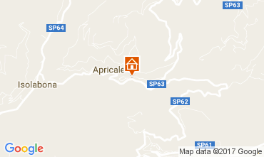 Map Apricale Apartment 108917