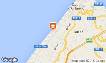 Map Capo d'Orlando Apartment 77517