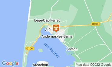 Map Andernos les Bains Vacation rental 81528
