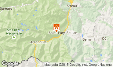 Map Saint Lary Soulan One-room apartment 4428