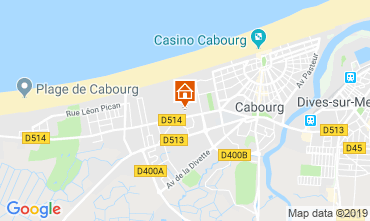 Map Cabourg Apartment 69525