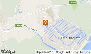Map Empuriabrava Apartment 75379