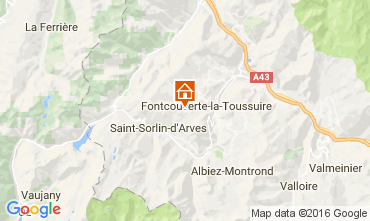 Map Le Corbier Apartment 106400
