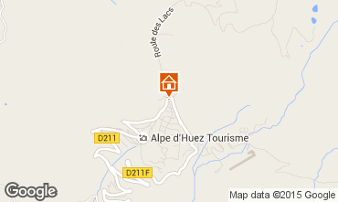 Map Alpe d'Huez One-room apartment 24