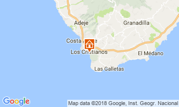 Map Los Cristianos Apartment 113441