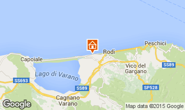Map Rodi Garganico Apartment 70966