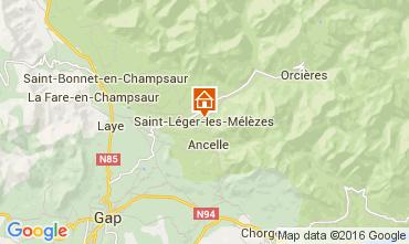 Map Saint Léger les Mélèzes Chalet 4835