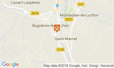 Map Bagnères-de-Luchon Apartment 26825