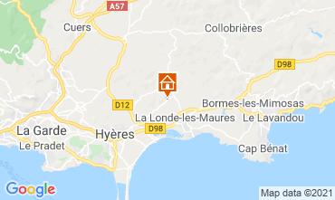 Map Bormes Les Mimosas Villa 51988