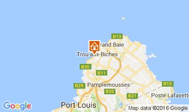 Map Trou-aux-biches Apartment 100334